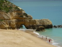 Beaches along the western region of Algarve